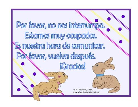 Spanish door sign freebie communication